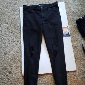 express jeans size 8R distressed knees